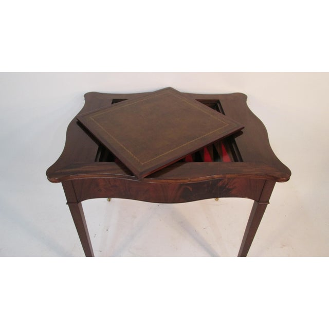 Red 1940s Beacon Hill Collection Game Table For Sale - Image 8 of 10