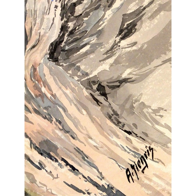 Mid-Century 1958 Monte Castelleto Italy Painting - Image 2 of 4