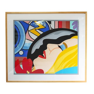 "1997 Vintage Tom Wesselmann ""Bedroom Face With Lichtenstein"" Print For Sale"