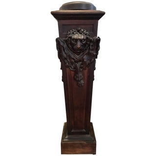 19th Century Neoclassical Walnut Pedestal For Sale