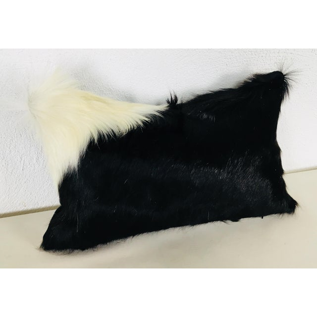 Black & White Natural Cowhide Pillow For Sale In Philadelphia - Image 6 of 6
