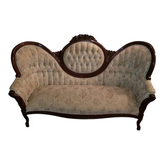 Victorian Cameo-Backed Loveseat