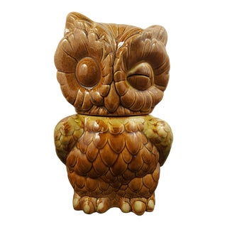 Vintage Winking Owl Cookie Jar For Sale