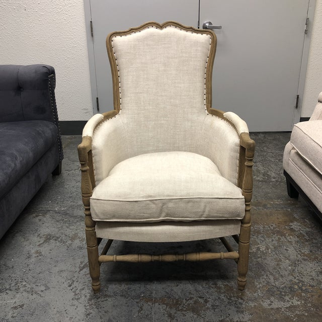Restoration Hardware 18th C. French Upholstered Bergere Chair For Sale - Image 13 of 13