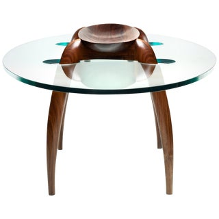 Pragmatism - Walnut Coffee Table Signed by Gildas Berthelot For Sale