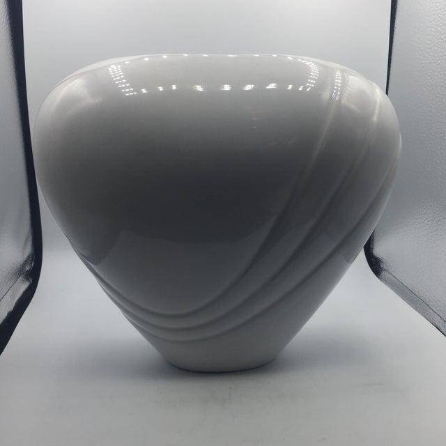 Haeger Large White Ceramic Vase Chairish