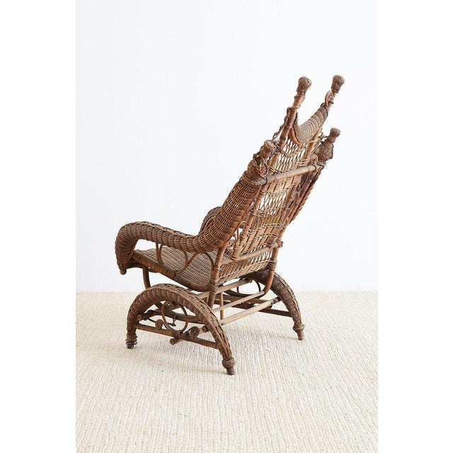 Late 19th Century 19th Century Heywood Wakefield Wicker Platform Rocker For Sale - Image 5 of 13