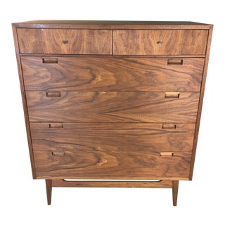 American of Martinsville Walnut Tall Dresser
