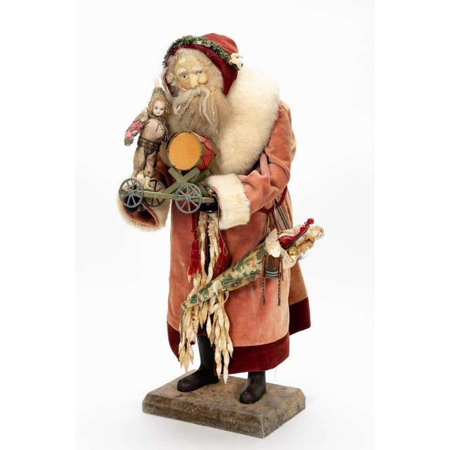 Large Vintage Father Christmas Figure For Sale - Image 4 of 8