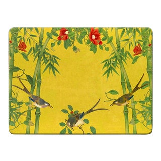 Italian Yellow Birds Placemat For Sale