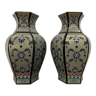 Vintage Chinese Decorative Vases - a Pair For Sale