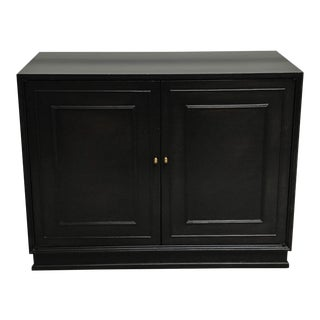 Mid Century Ebonized Mahogany Cabinet For Sale