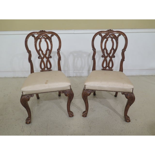 Wood 1990s Vintage Karges Georgian Style Ball & Claw Dining Room Chairs- Set of 8 For Sale - Image 7 of 13
