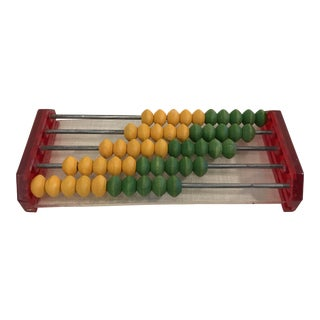 Vintage Lucite and Wood Toy Abacus