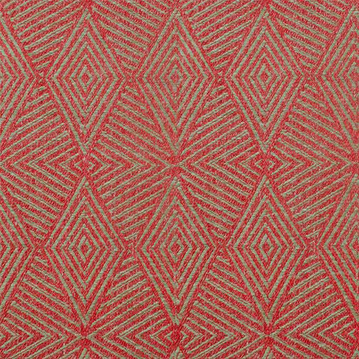 Contemporary Triad Cinnabar Red Fabric - 1 Yard For Sale - Image 3 of 3