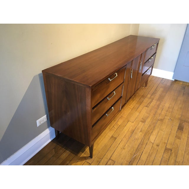 Mid-Century Modern Mid 20th Century Vintage Walnut Credenza For Sale - Image 3 of 10