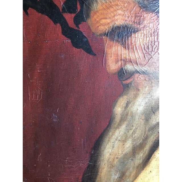 """Head of Bacchus"" Oil Painting by Ignacio Beller For Sale In Seattle - Image 6 of 10"