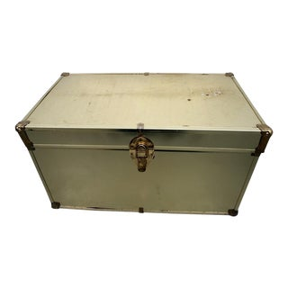 Vintage Gold Tone Trunk For Sale