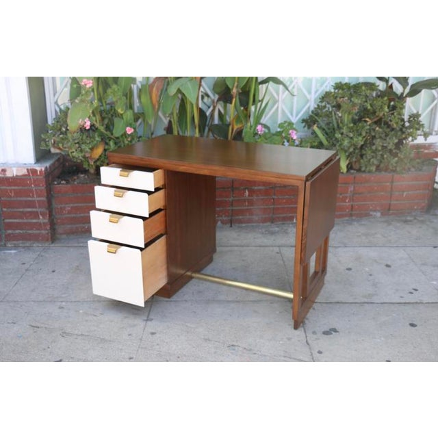 Edward Wormley Drop Leaf Desk For Sale In Los Angeles - Image 6 of 13