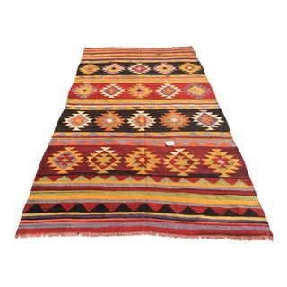Vintage Aztec Kilim Rug