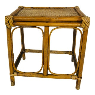 Late 20th Century Bamboo Plant Stand For Sale