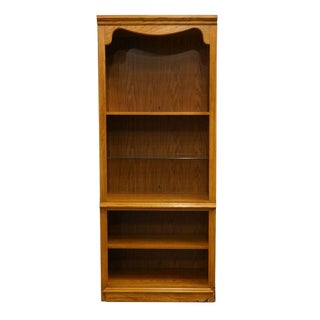 "Thomasville Furniture Winston Court 32"" Oak Bookcase For Sale"