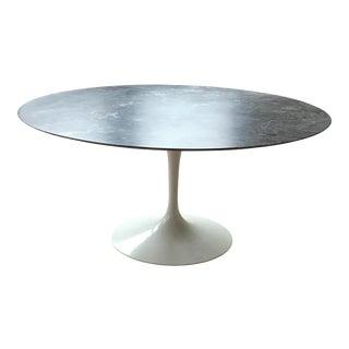 Saarinen Round Marble Top Dining Table