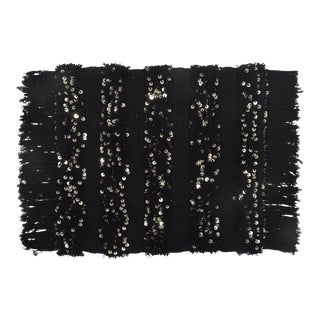 """New Moroccan Inspired Limited Edition Sequin Pillow Sham BLACK 26"""" x 26"""""""