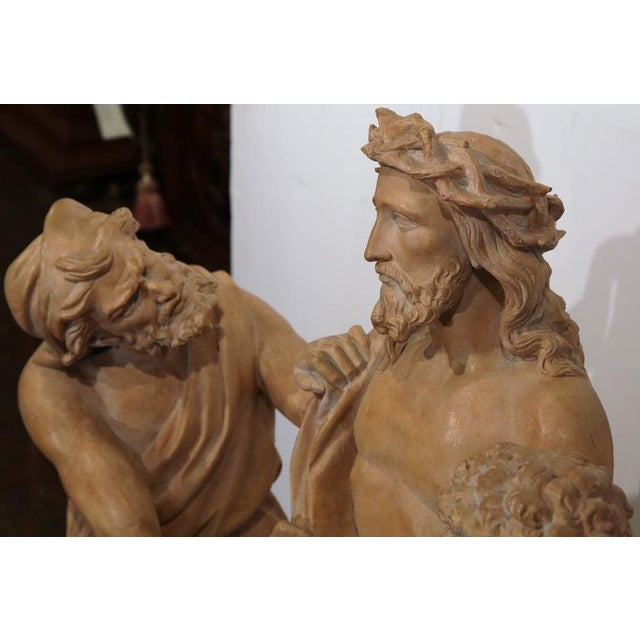 French Terracotta Sculpture of Christ Before Crucifixion For Sale - Image 4 of 10