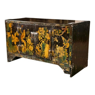 Miniature Chinoiserie Style Wooden Table Top Chest