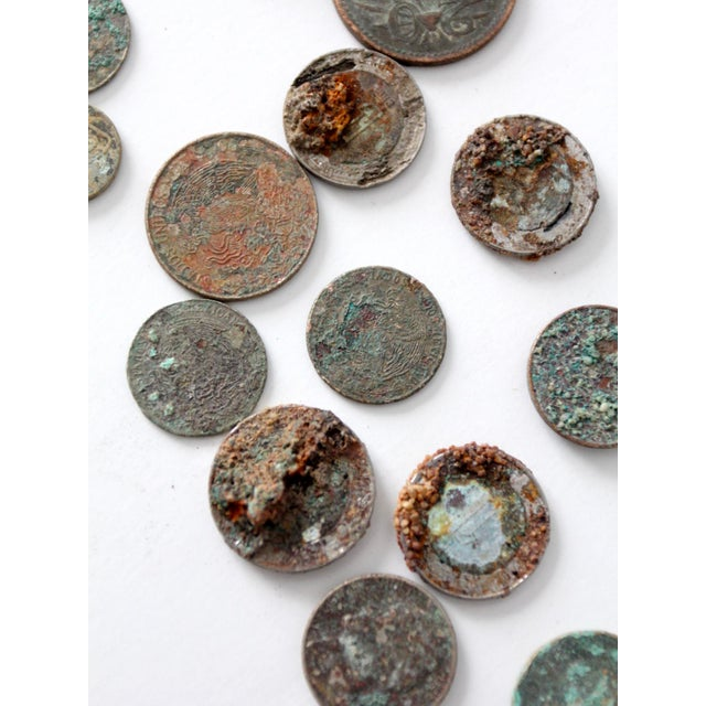 Vintage Oxidized Coin Collection For Sale - Image 9 of 11