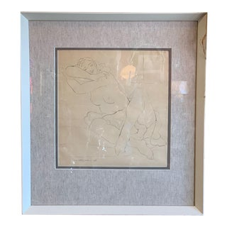 Nude Drawing by Milton Horn American Sculptor For Sale