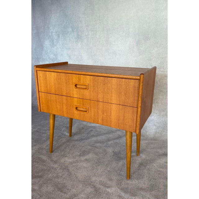 Gorgeous Scandinavian mid-century lowboy mini dresser, made in Sweden in the 1960s in the Swedish Modern tradition. Made...