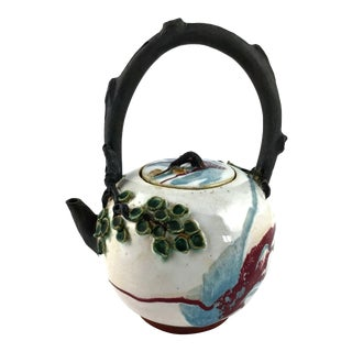 Artisanal Antique Thai Ceramic Teapot For Sale