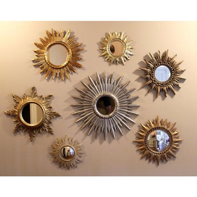 Large Silver Sunburst Mirror For Sale - Image 4 of 9