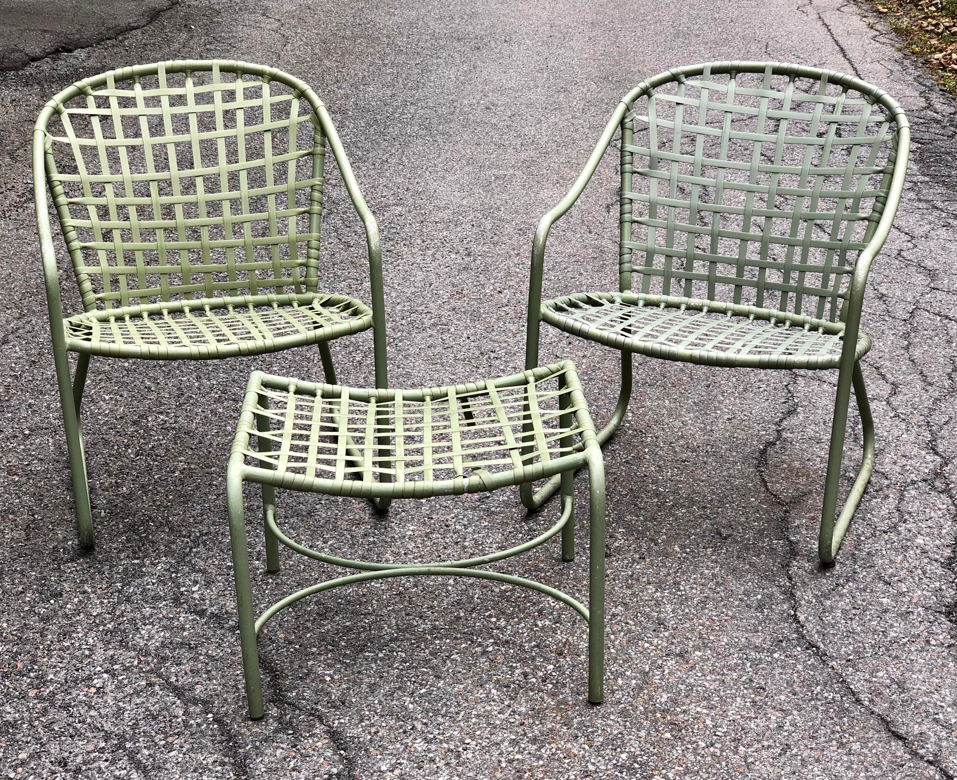 Cool 1960u0027s Brown Jordan Patio Set In Fabulous Pea Green/avocado. Two Chairs  And
