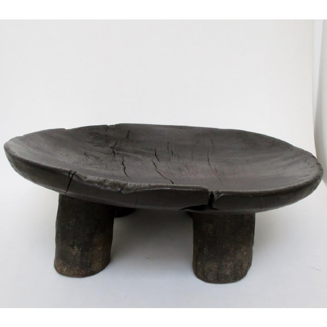 West African Footed Wood Bowl - Image 4 of 8