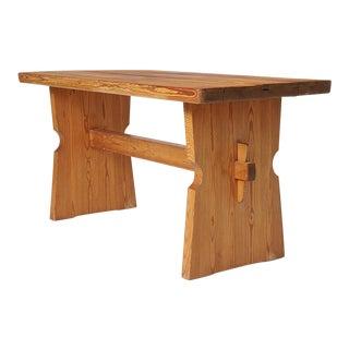 "Pine ""Lovo"" Table by Axel Einar Hjorth for Nordiska Kompaniet For Sale"
