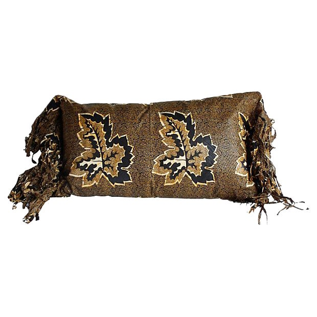 African Wax Print Textile Pillow For Sale