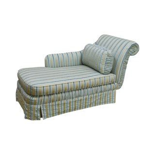 Cox Quality Upholstered Recamier Chaise Lounge For Sale