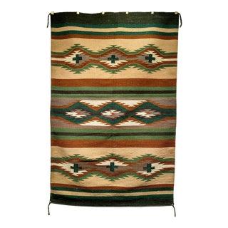 "Vintage Navajo Rug 4' X 6'2"" For Sale"