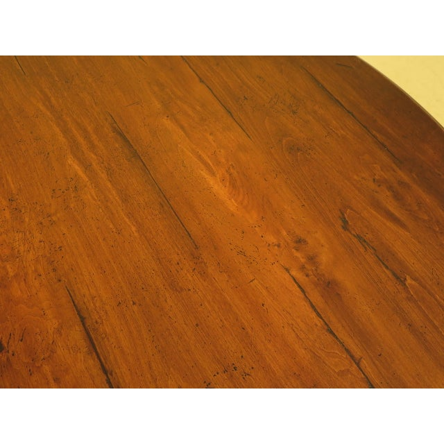 2000 - 2009 Guy Chaddock Round Distressed Wood Dining Room Table For Sale - Image 5 of 8
