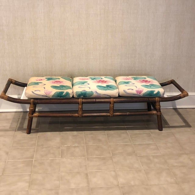 John Wisner for Ficks Reed long Pagoda bench. Transformed into swanky bench seat with addition of white laminate and...