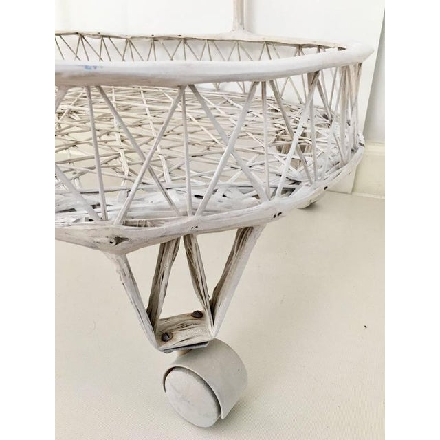 Vintage Russell Woodard Spun Fiberglass Rolling Bar Cart For Sale In West Palm - Image 6 of 6