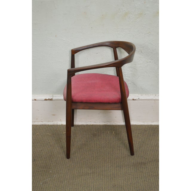 Mid-Century Modern Danish Modern Vintage Curved Back Arm Chair by Raymor For Sale - Image 3 of 10