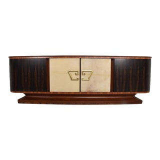 1950s Mexican Regency Exotic Wood Credenza For Sale