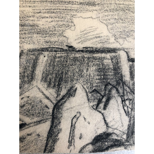 Americana 1930s Vintage Eliot Clark Monument Valley, Colorado Plein Air Drawing For Sale - Image 3 of 6