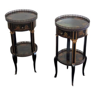 Mid Century Asian Jardinieres- A Pair For Sale