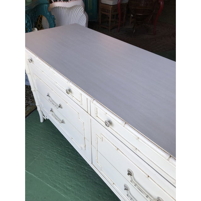 Thomasville Vintage Thomasville Faux Bamboo Six Drawer Dresser For Sale - Image 4 of 12