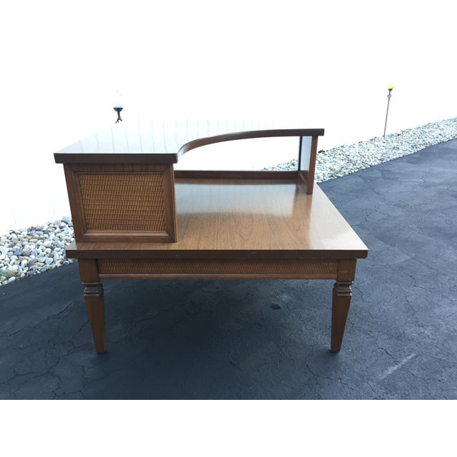 Vintage Baumritter Two Tiered Laminate Top Corner Table For Sale - Image 5 of 8
